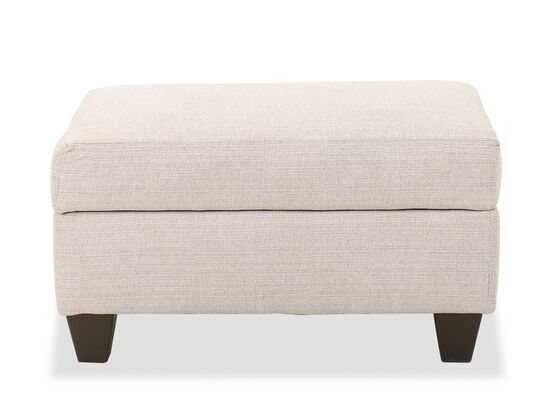 "36"" Casual Cushion-Top Ottoman in Taupe"