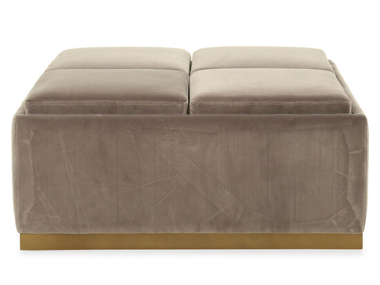 Contemporary Accent Ottoman in Gray