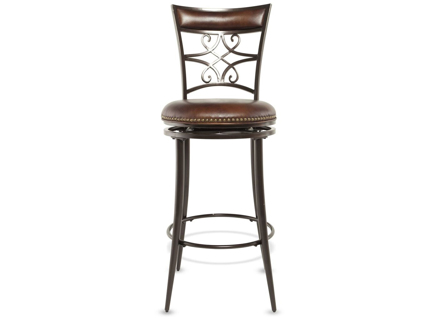 Casual 23quot Nailhead Accented Bar Stool in Brown Mathis  : HILLS 4492047830 from www.mathisbrothers.com size 1333 x 1000 jpeg 45kB