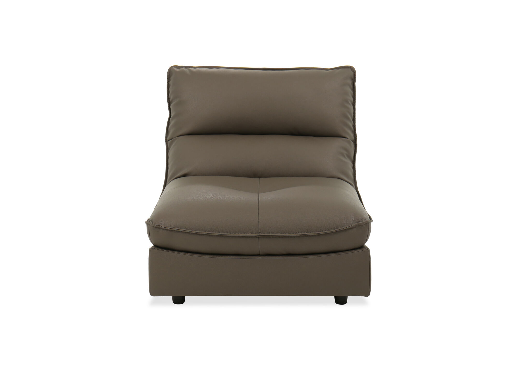 Smooth Leather Displays A Relaxing Gray Tone That Infuses A Warm, Feel Good  Vibe To Any Décor. Updated With Welted Edges, This Casual Armless Chair Is  A ...