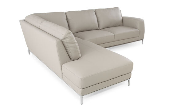 """Two-Piece Transitional 108"""" Sectional in Stone"""