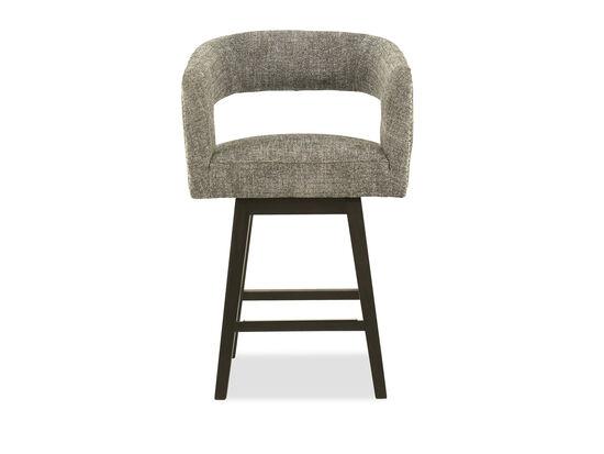 Modern Cutout Back Barstool in Gray
