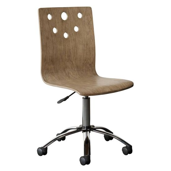Swivel Casual Youth Desk Chair in Sunflower Seed
