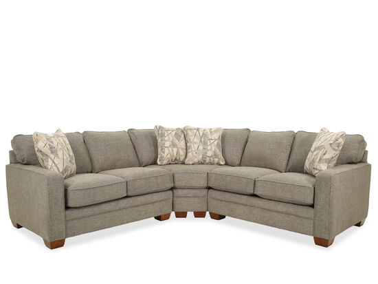 Casual Three-Piece Sectional in Stone