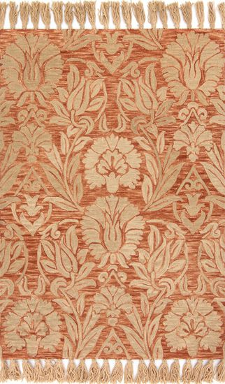 "Traditional 9'-3""x13' Rug in Persimmon"