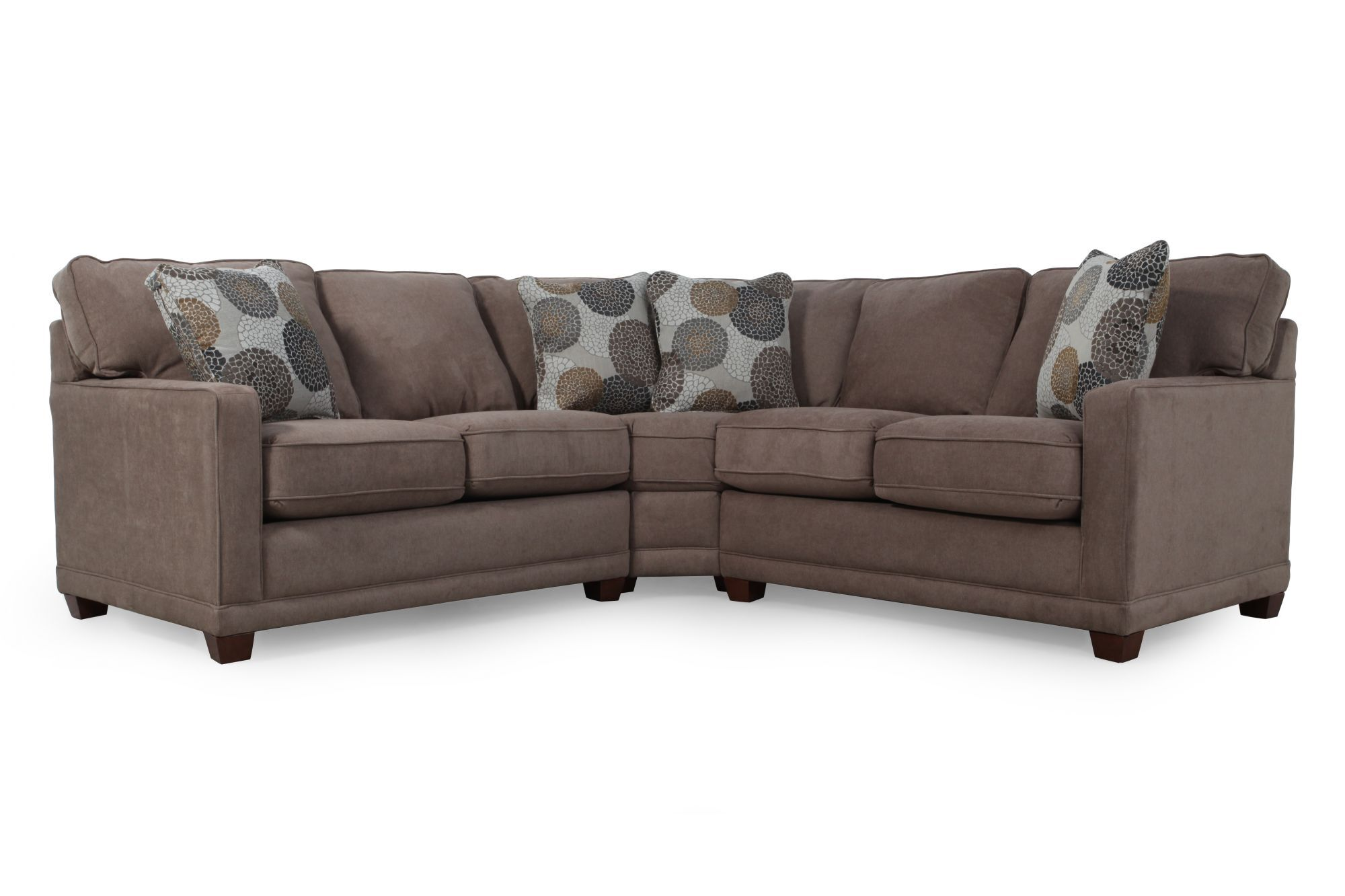 La-Z-Boy Kennedy Cashmere Sectional  sc 1 st  Mathis Brothers : lazboy sectionals - Sectionals, Sofas & Couches