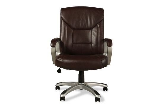 Oversized Leather Executive Chair in Brown