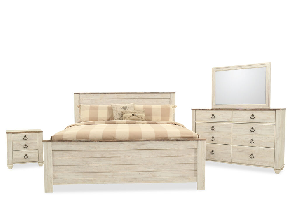 Four-Piece Casual Bedroom Set in White