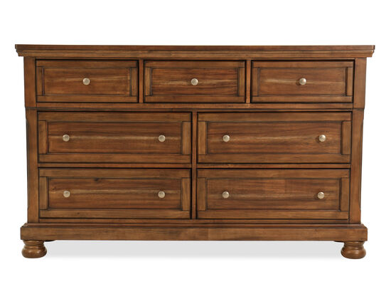 "40"" Traditional Seven-Drawer Dresser in Brown"