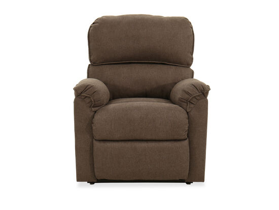 """Traditional 37"""" Power Lift Recliner in Brown"""