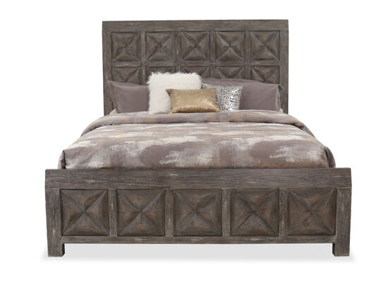 """72"""" Traditional King Panel Bed in Root Beer"""