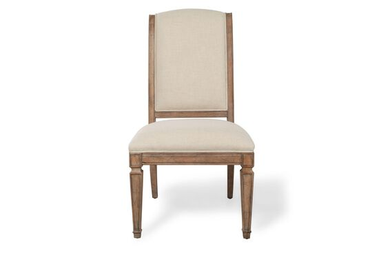 Two-Piece Spade Legs 44'' Side Chair Set in Beige