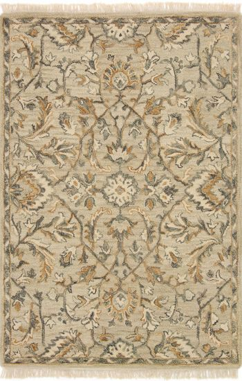 "Traditional 2'-3""x3'-9"" Rug in Neutral"