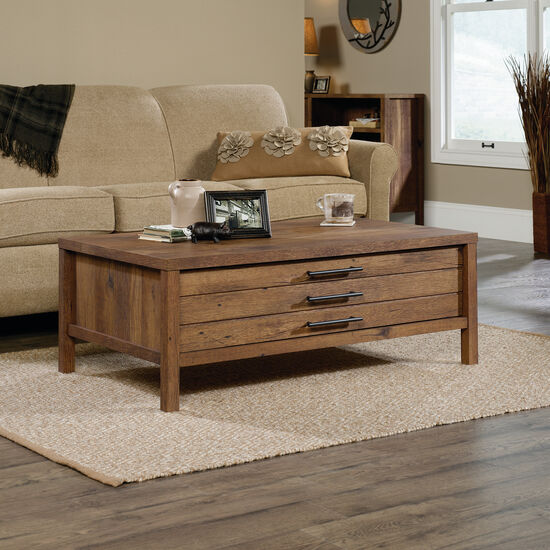 Rectangular Contemporary Coffee Table in Vintage Oak