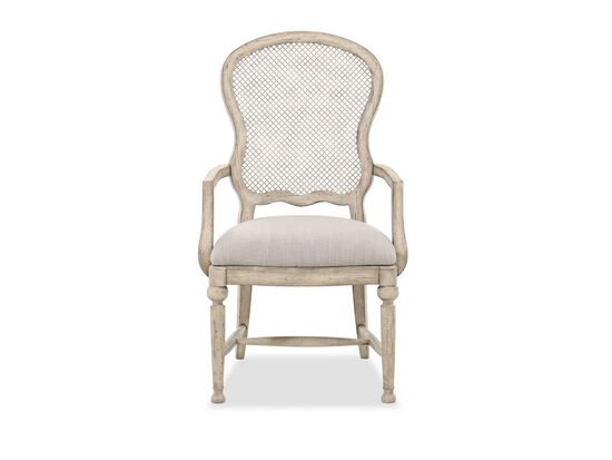 """43"""" Traditional Arm Chair in Mercantile White"""