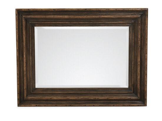 "50"" Casual Vertical Mirror in Dark Wood"