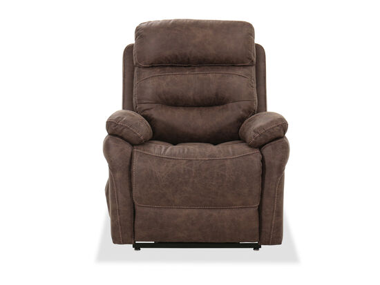 """Casual 43"""" Power Lift Recliner in Brown"""