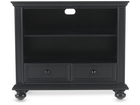 Two-Drawer Contemporary Bookcase in Black