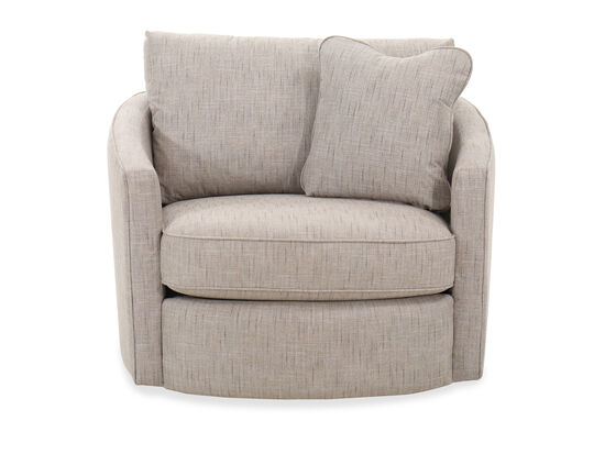 Modern Swivel Chair in Linen