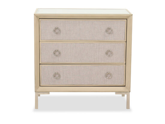 Casual Three-Drawer Chest in Light Brown