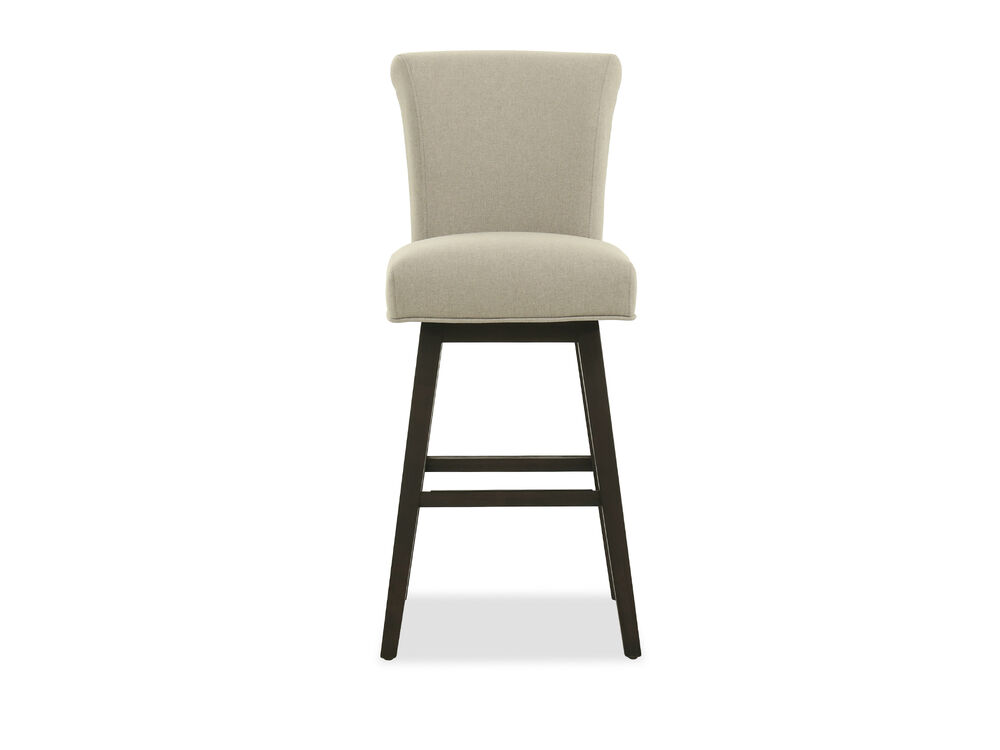 """Casual 44"""" Armless Bar Stool in Beige"""