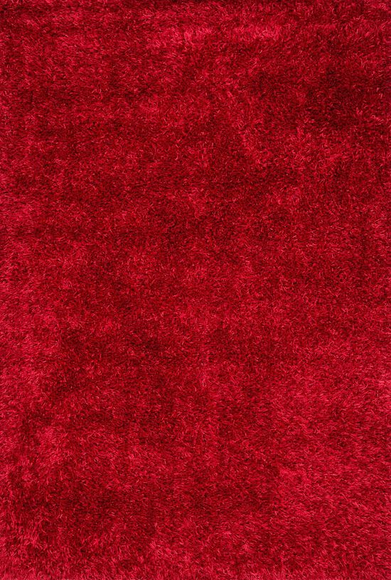 """Shags 7'-9""""x9'-9"""" Rug in Red"""