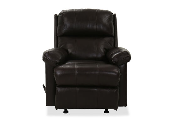 "35"" Leather Rocker Recliner in Bark"