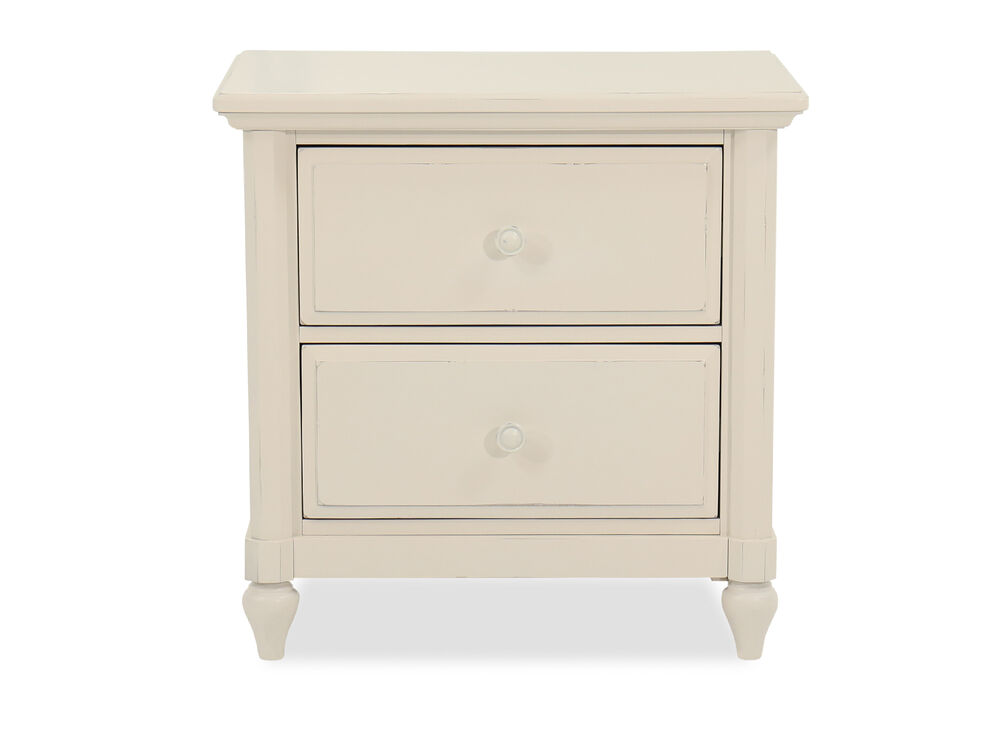 """28"""" Casual Two-Drawer Nightstand in Chalk"""