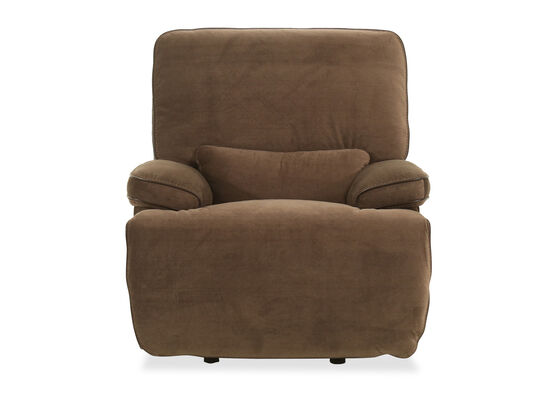 Casual Power Headrest Glider Recliner in Coffee