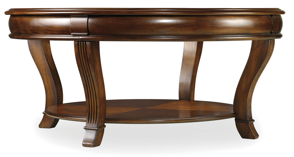 Brookhaven Round Cocktail Table in Medium Wood