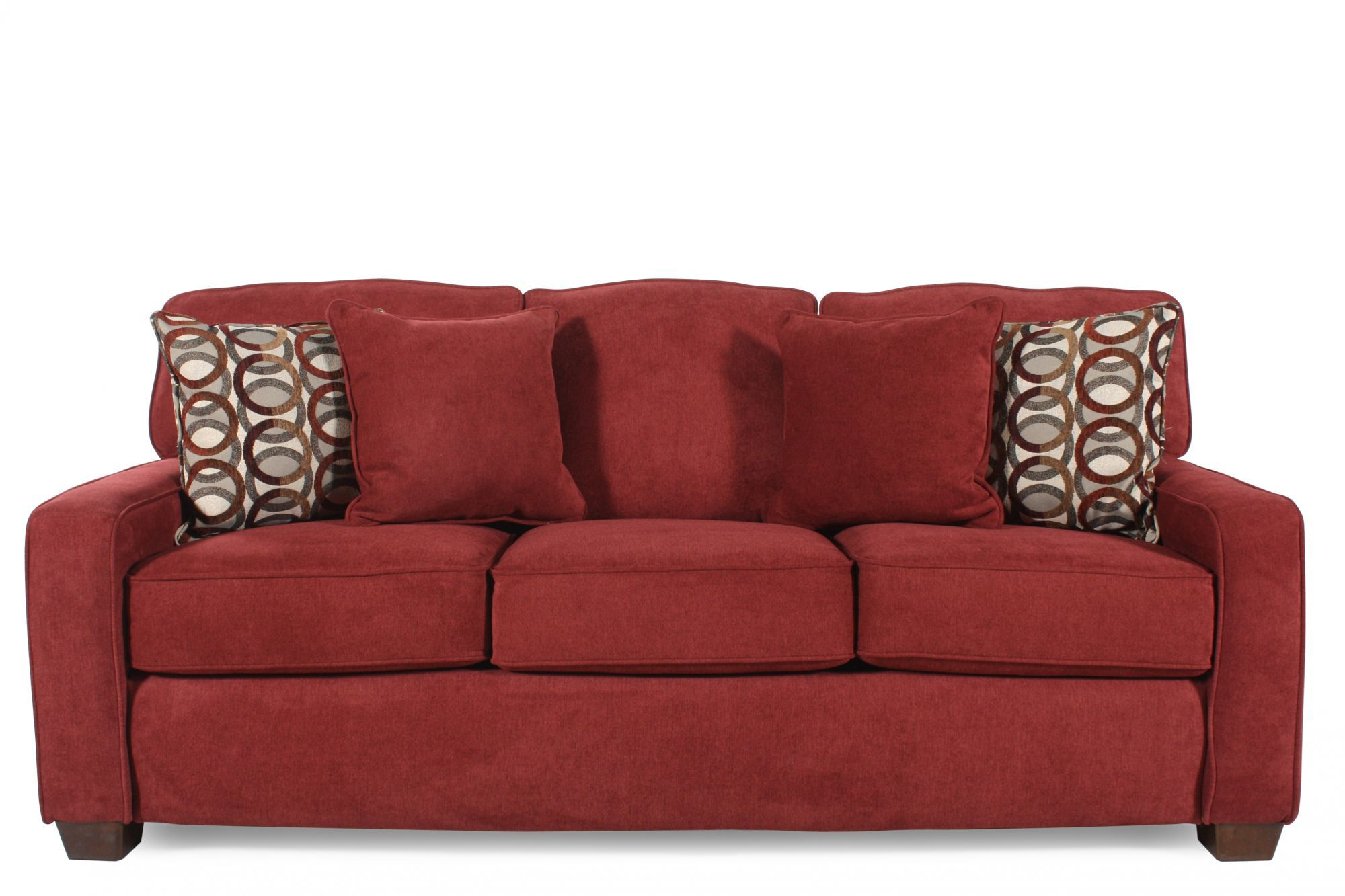 I Rest Casual 82 Quot Queen Sleeper Sofa In Red Berry Mathis