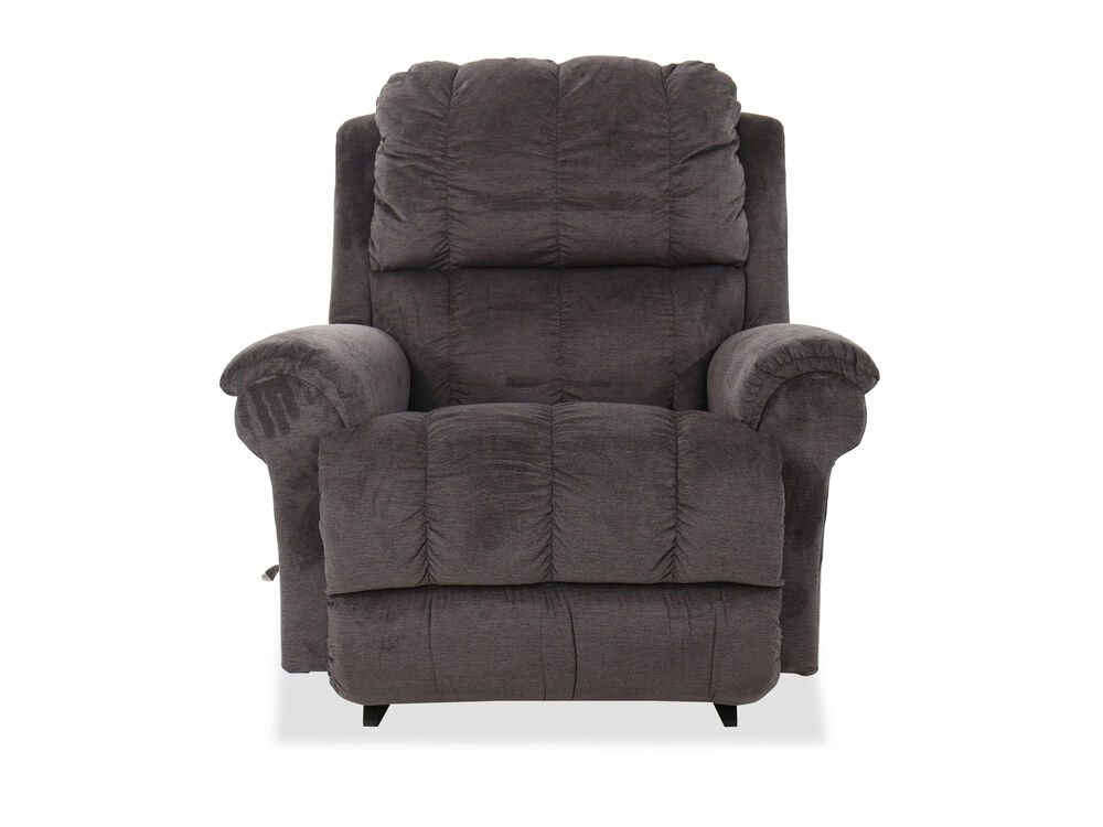 """Casual 45"""" Rocking Recliner in Gray"""