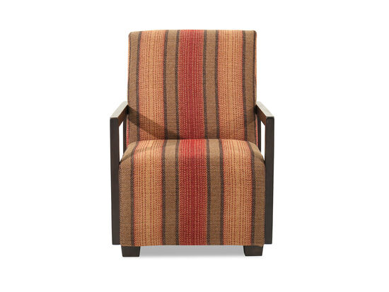 """Striped Traditional 29"""" Accent Chair"""