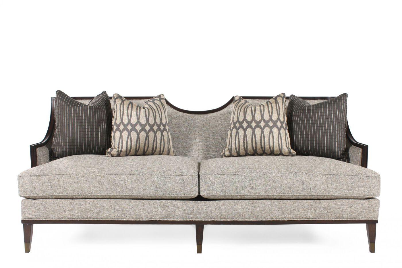 """A R T Chenille 84 5"""" Sofa in Gray"""