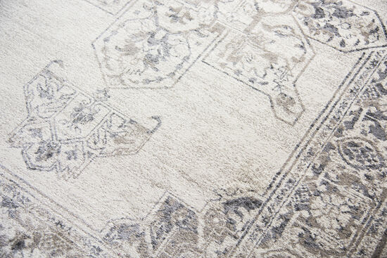 Traditional Power-Loomed 6.7 x 9.6 Rectangle Rug in Natural