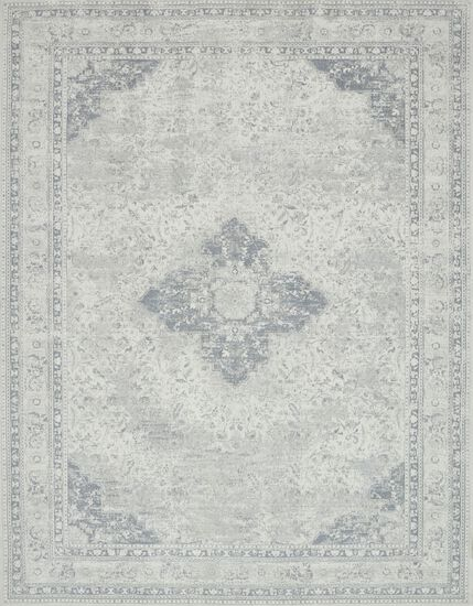 "Transitional 2'-3""x4'-0"" Rug in Ivory/Ivory"