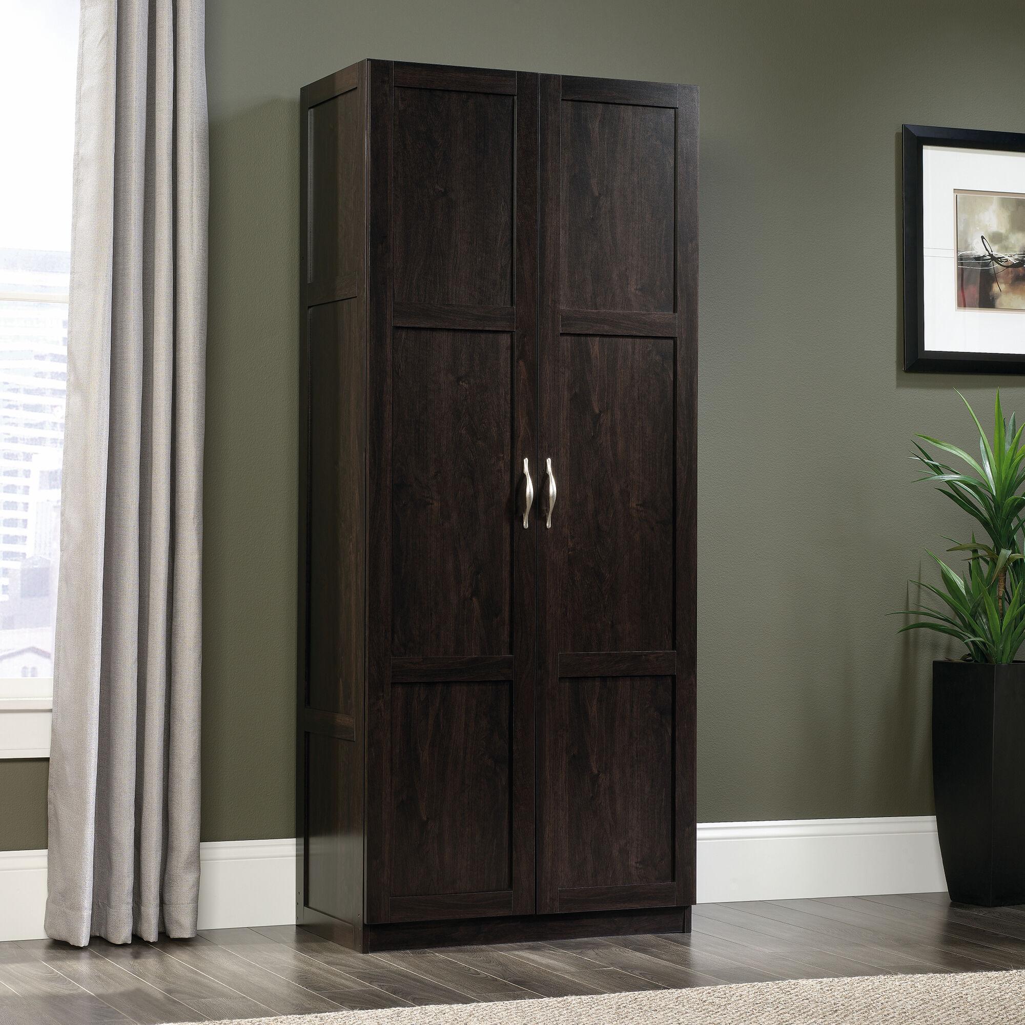 Two Door Contemporary Storage Cabinet In Cinnamon Cherry