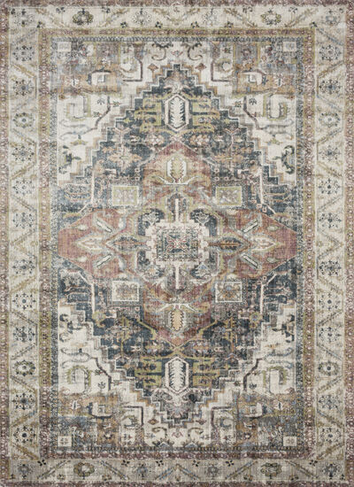 "Loloi Power Loomed 5'3''x7'8"" Rug in Ivory/Multi"