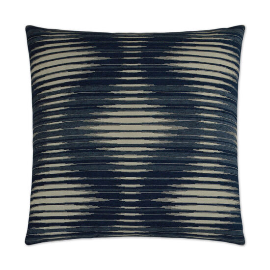 Accordion Pillow in Navy Blue