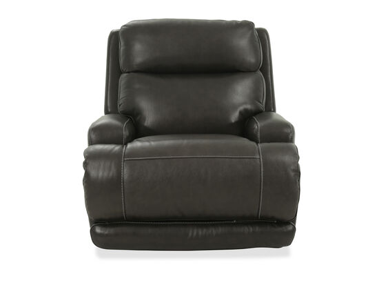Power Headrest Leather 39'' Motion Reclinerin Brown