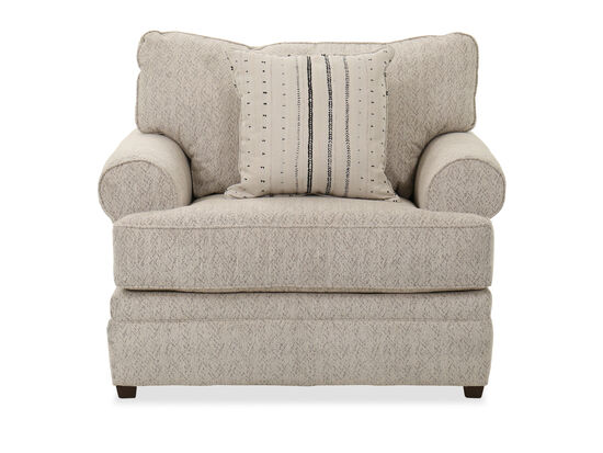"""48"""" Traditional Roll Arm Chair in Beige"""