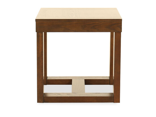 Square Contemporary End Table in Dark Merlot