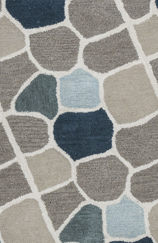Contemporary Hand-Tufted 5'  x  8' Rectangle Rug in Multi
