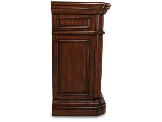 """44"""" Traditional Paneled Media Chest in Brown"""