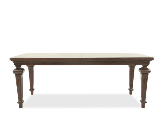 """Traditional 81"""" to 101"""" Rectangle Extension Dining Table in Brown"""