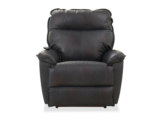 """Leather 39"""" Power Rocker Recliner in Admiral"""