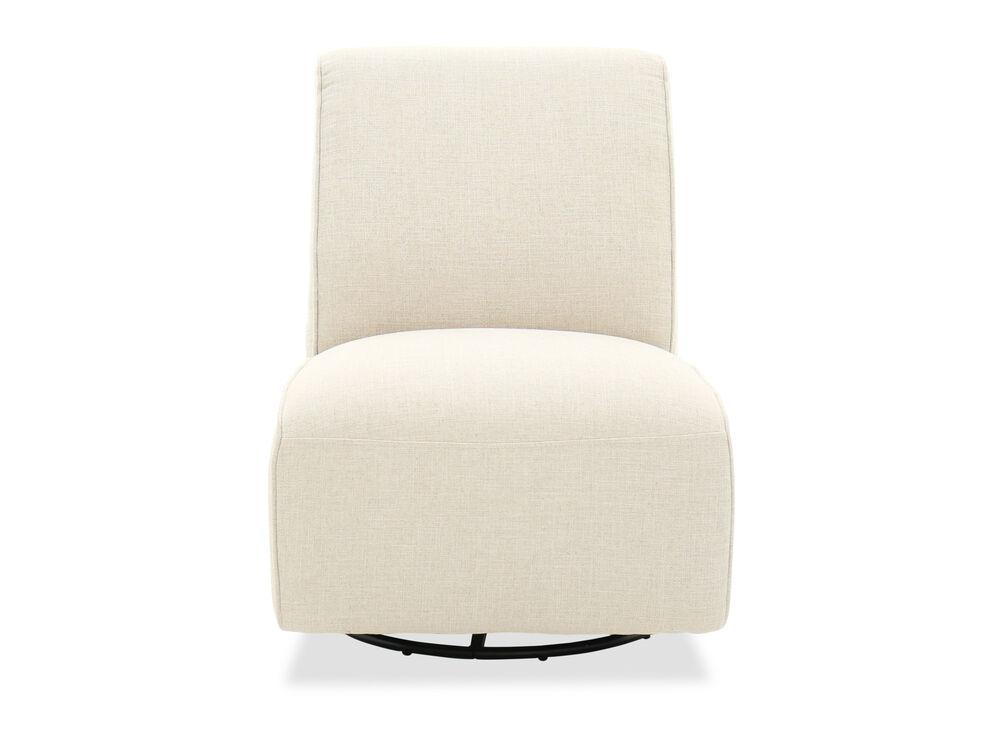 "Contemporary 30"" Armless Swivel Chair In Cream"