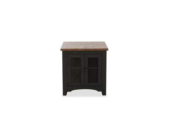Traditional Rectangular End Table in Black