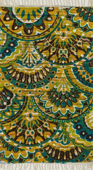 "Transitional 3'-6""x5'-6"" Rug in Peacock/Yellow"