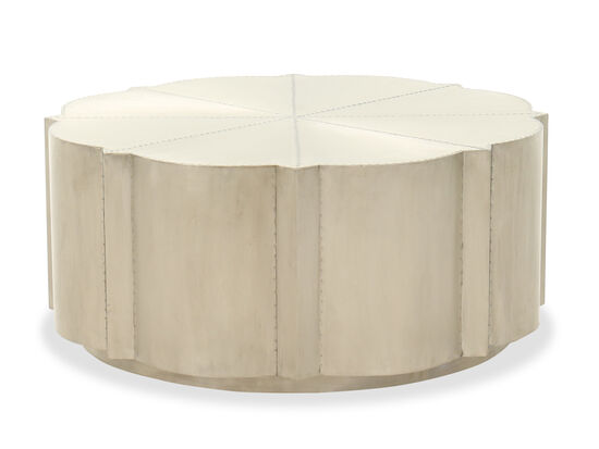 """40"""" Traditional Round Cocktail Table in Silver"""